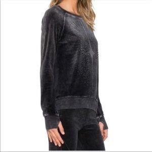 Pam & Gela Mineral Wash Rhinestone Sweatshirt